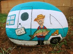 1956 Terry Canned Ham vintage travel trailer RV, unique gift