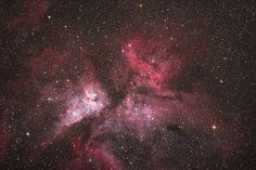 'The hydrogen gas cloud surrounding the star Eta Carina. Taken with a Celestron C14 and Hyperstar lens.'