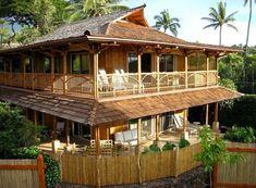 25 Desain Interior Rumah Bambu