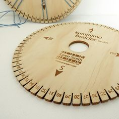 Kumihimo disk with 64 slots for use with embroidery threads