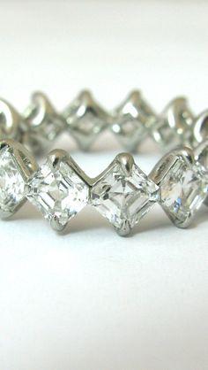 Asscher Cut Diamond Eternity Band