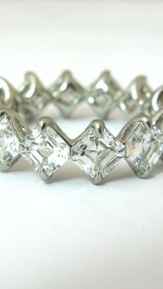 Asscher Cut Diamond Eternity Band