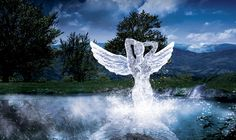 For sure should be able to do reflection into water! Create an Angelic Sculpture Made of Ice in Photoshop
