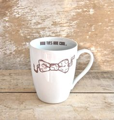 MISTAKE MUG Bow Ties Are Cool  Discounted by SecondChanceCeramics