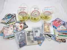 Estate LOT MLB NL Ozzie Smith Autographed Baseballs, Card LOT Basket + Football