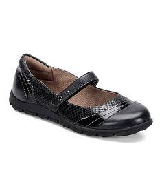 Look at this #zulilyfind! Black Leather Corwin Mary Jane #zulilyfinds