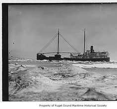 Admiral Goodrich, a steel steam schooner, in the Bering Sea, June 27, 1918 :: Puget Sound Maritime Historical Society