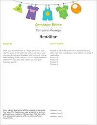 baby clothes kids clothes Flyers