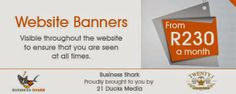 Business Shark: Online Advertising and Business Directory: 21 Ducks Media (Pty) Ltd offers var. Online Advertising, Ducks, Shark, Banner, Business, Banner Stands, Store, Sharks, Business Illustration