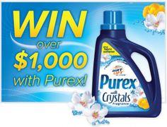 Enter To Win Free Bottle Purex Detergent (500 Winners)  http://www.thefreebiesource.com/?p=198518