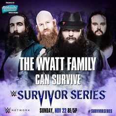 WWE Survivor Series The Wyatt Family can survive. The Wyatt Family, Wwe Survivor Series, Wwe 2k, Wwe Pay Per View, Wwe Photos, Wwe Superstars, Survival, Wrestling, Instagram Posts