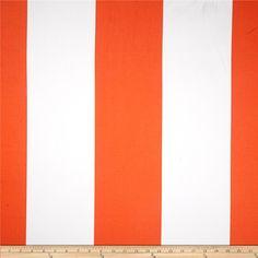 Michael Miller Bekko Home Decor Wide Stripe Tangerine