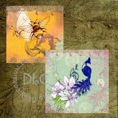 Vintaq India Art  Digital Collage Sheets by DesertLifeCreations, $4.25