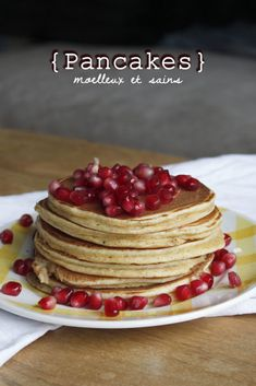 Pancakes rapides et sains – Mes brouillons de cuisine Desserts Sains, Healthy Life, Biscuits, Brunch, Food And Drink, Tasty, Vegan, Cooking, Breakfast