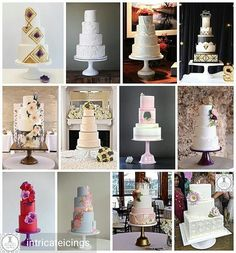 Over the years @intricateicings has paired all these amazing cakes with my cake stands. Thanks for posting all of these together for my Birthday!