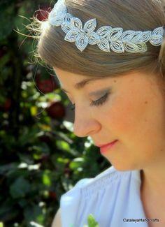 Amazon.co.uk: Beaded Silver Glass Seed Bead Hair Vine: CataleyaHandcrafts
