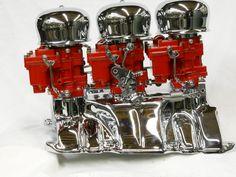 Red & Chrome 3x2 Nailhead Buick