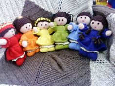 My Rainbow Maidens from a Jean Greenhowe pattern