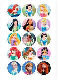 Disney Princess Cupcakes, Disney Princess Birthday, Disney Princess Frozen, Disney Princess Drawings, Disney Princess Pictures, Princess Theme, Disney Drawings, All Disney Princesses, Disney Pixar