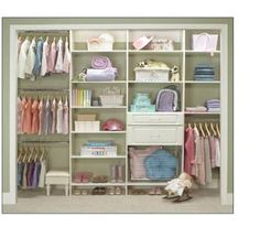Closet Organizer with shelves