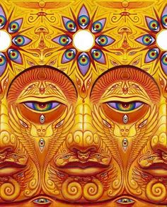 Infinity drenched equanimity - Sunyata by Alex Grey