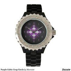 Purple Celtic Crop Circle Watch