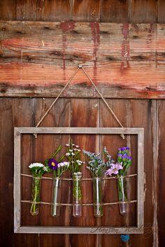 test tube flower picture frame