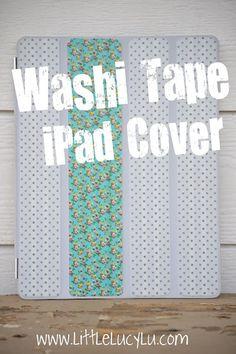 Washi Tape iPad cover