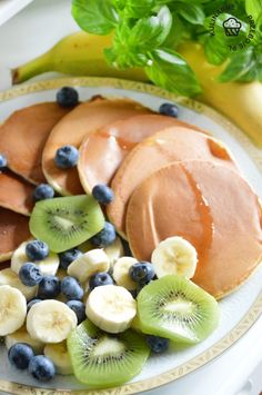 Placuszki z mascarpone - szybkie, pyszne i puszyste! Kiwi, Cantaloupe, Fruit, Food, Mascarpone, Essen, Meals, Yemek, Eten
