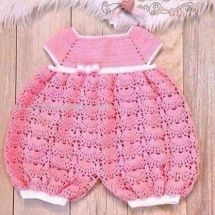 Baby Crochet Patterns Part 20 - Beautiful Crochet Patterns and Knitting Patterns Crochet Baby Dress Pattern, Baby Girl Crochet, Crochet Baby Clothes, Newborn Crochet, Crochet For Kids, Knit Crochet, Hand Crochet, Baby Patterns, Knitting Patterns