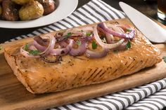 Grilled salmon anyone? A maple-balsamic marinade and a cedar plank go a long way to impart glorious flavour into a great grilled salmon dish. Balsamic Salmon, Balsamic Marinade, Maple Balsamic, Grilled Salmon, Salmon Recipes, Fish Recipes, Seafood Recipes, Dinner Recipes, Recipes