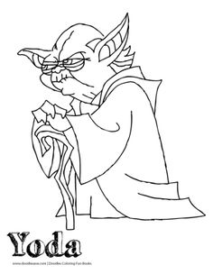 Yoda Coloring Page  Star Wars The Force Awakens Coloring Sheets #Starwars #Yoda
