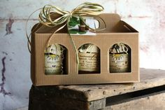 Jam Carry Gift Box With Three (3) - 8oz Jars Of Fresh Fruit Jams - Your Choice - Small Batch Artisan by Sunchowders Emporia on Gourmly
