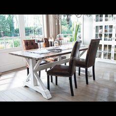 La Provence X - jídelní stůl z masivu  INDICKÝ NÁBYTEK Z MASIVU