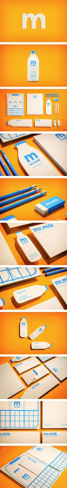 Mr. Milk | #corporate #design #corporatedesign #identity #logo #branding #stationary #packaging