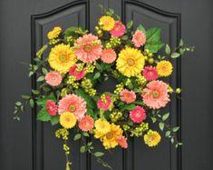 Spring Door Decor Spring Wreath for Front Door by twoinspireyou