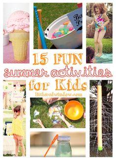 15 Fun Summer Activities for Kids  |  littleredwindow.com