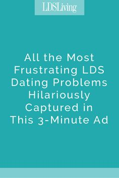 In this hilarious video starring Studio C's Stacey Harkey, all the common dating problems LDS singles experience is captured in just three minutes.