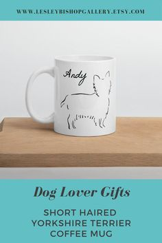 Short Haired Yorkshire Terrier Coffee Mug, Minimalist Yorkie Coffee Cup, Personalized Yorkie Coffee Mug, Gift for Dog Lover Gifts For Dog Owners, Gifts For Pet Lovers, Dog Lovers, Coffee Lovers, Best Dog Gifts, Dog Mom Gifts, Crafting With Cat Hair, Cat Fountain, Dachshund Gifts
