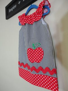 Girls Peasant Dress 'Sarah' Red Apple by SouthernSeamsKids on Etsy, $32.00