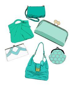 (via purses fashion illustration digital print blue and by LeighsArt)