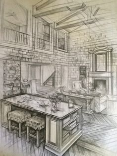 interior architecture drawing,karakalem,house,home