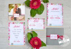Beerentöne mit Pink und grün kombiniert mit Grau sind die Hauptfarben dieser Papeterie. Die Einladungen sind als #Pocketfold Einladungskarten gestaltet. Strand, Meer und Surfbretter dürfen natürlich auch nicht fehlen. Neben den Pocketeinladungen wurden auch Save the Date Karten, Menükarten und Dankeskarten gestaltet.#feenstaub #hochzeitspapeterie #sommerhochzeit #einladungskarten #pink #aloha Save The Date Karten, Strand, Christian, Frame, Pink, Decor, Surfboards, Main Colors, Map Invitation