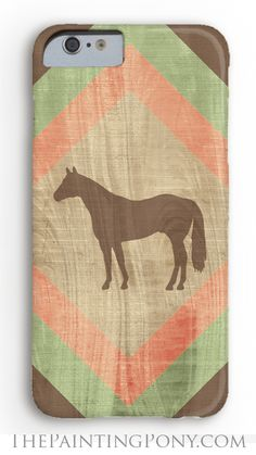 LOVE - equestrian phone case for the horse lover with cute chevron and wood grain southwestern style quarter horse cowgirl art printed on the cover. barely there, tough, and extreme tough case options. Anyone who loves horses, ponies, and horseback riding will enjoy getting this gift anytime of the year.