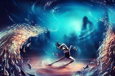 Poster | DANCING ZODIAC PISCES von Cyril Rolando | more posters at http://moreposter.de