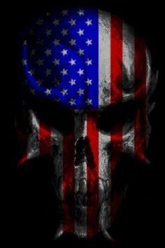Wallpaper Skull Tattoo Design, Skull Tattoos, Tattoo Designs, Tatoos, Skull Pictures, Cool Pictures, American Flag Wallpaper, Patriotic Tattoos, Patriotic Pictures
