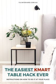 The Easiest Kmart Furniture Hack Ever The Easiest Kmart Furniture Hack Ever Turn That Broken Marble Side Table Into Something Stunning Kmart Side Table Hack Black Marble Side Table From Kmart As Bedside Table In Scandi Bedroom Bedside Table Styling, Bedside Table Decor, Pictures Of Christmas Decorations, Scandi Bedroom, Bedroom Inspo, Mens Bedding Sets, Kmart Home, Kmart Decor, Side Tables Bedroom