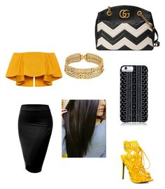 """""""Untitled #741"""" by starrjames ❤ liked on Polyvore featuring Gucci, J.TOMSON, Privileged, Chanel and Savannah Hayes"""
