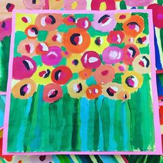 More blooms! We are so excited for springs arrival! Urban Drawings, Art Drawings, Projects For Kids, Art Projects, Spring Art, Spring Time, Kindergarten Art, Arts Ed, Art School
