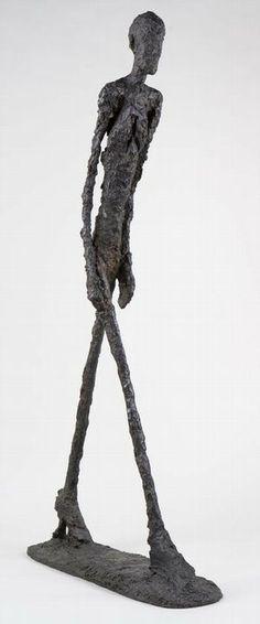 Obra deAlberto Giacometti exposta na mostra no MAM